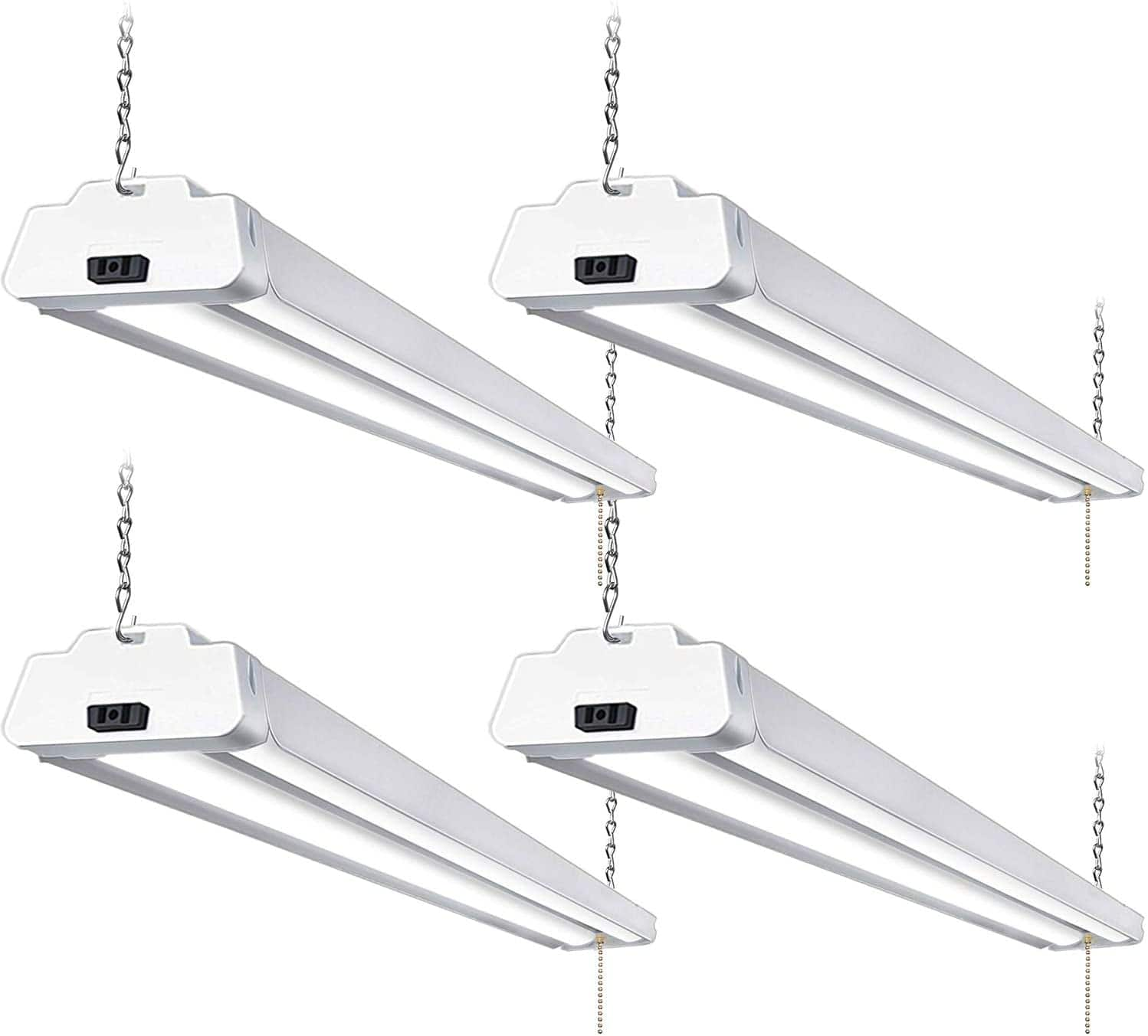 4 Pack 4FT 42W 5000K Linkable LED Shop Light w/ Pull Chain for Garage from $63.99 + FS