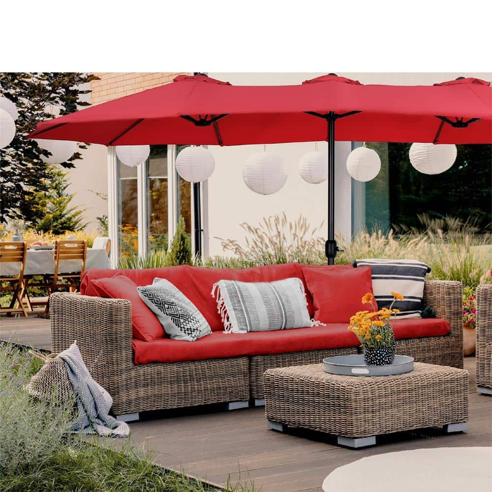 Phi Villa 13ft Double-Sided Outdoor Patio Umbrella $92.99 + Free Shipping