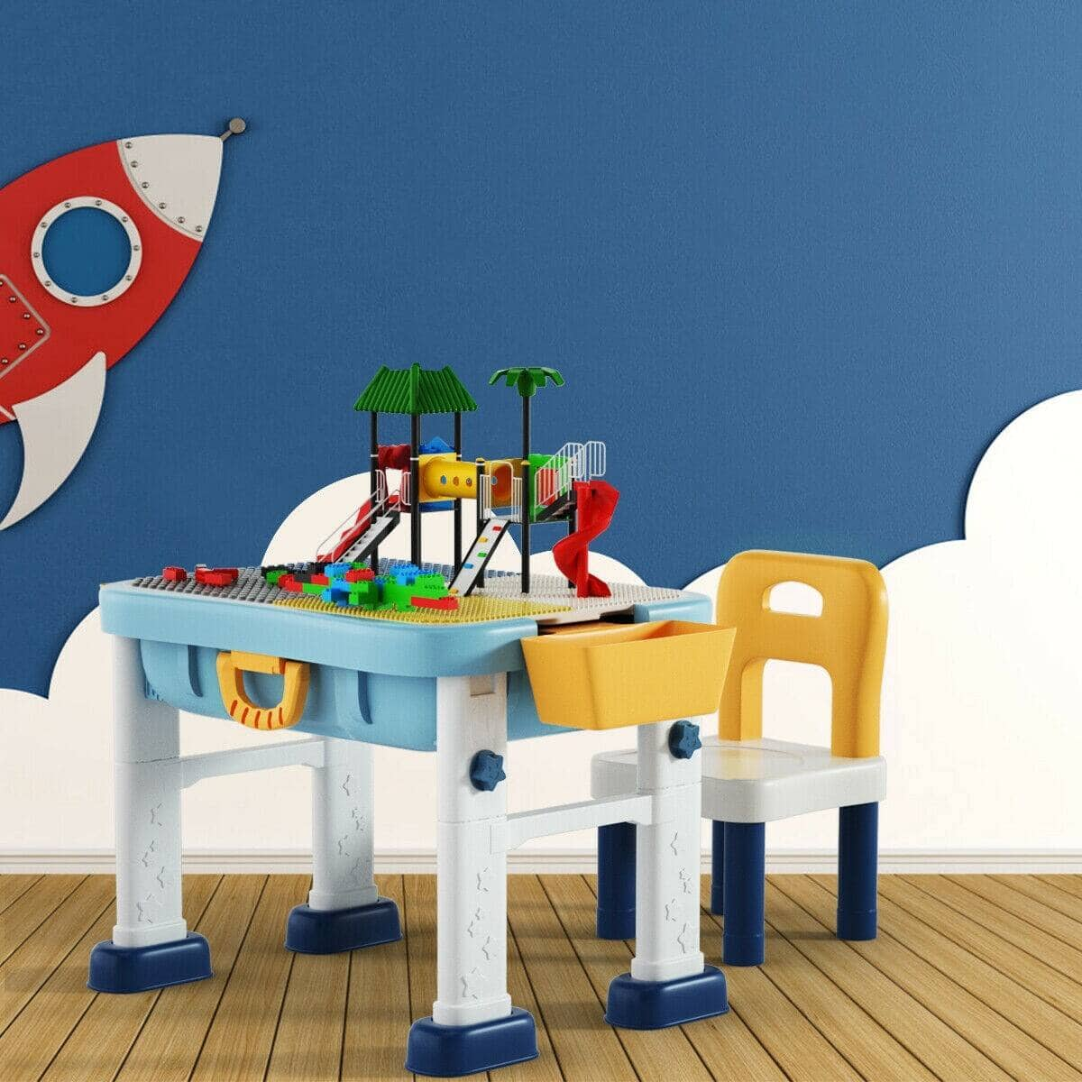 6 in 1 Kids Activity Table Set with Chair $53.95 + Free Shipping
