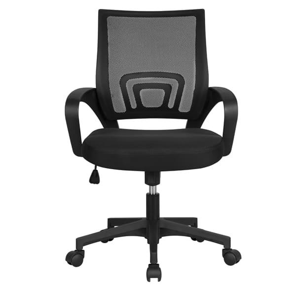 Smilemart Mid Back Adjustable Rolling Desk Chair, Black $48.99 + Free shipping