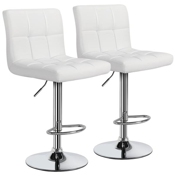 2pcs Adjustable PU Leather Swivel Bar Chair Bar Stool $74.99 + Free Shipping