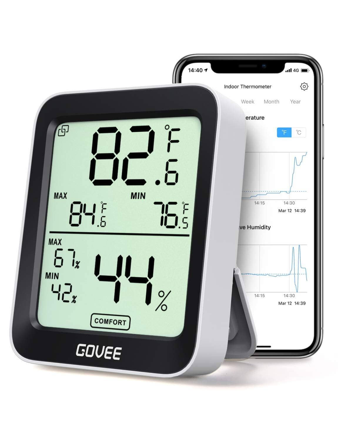Govee Smart Temperature Humidity Monitors w/ Swiss-made Sensor and App Tracking - $8.99 + FS w/ Prime or Orders $25+