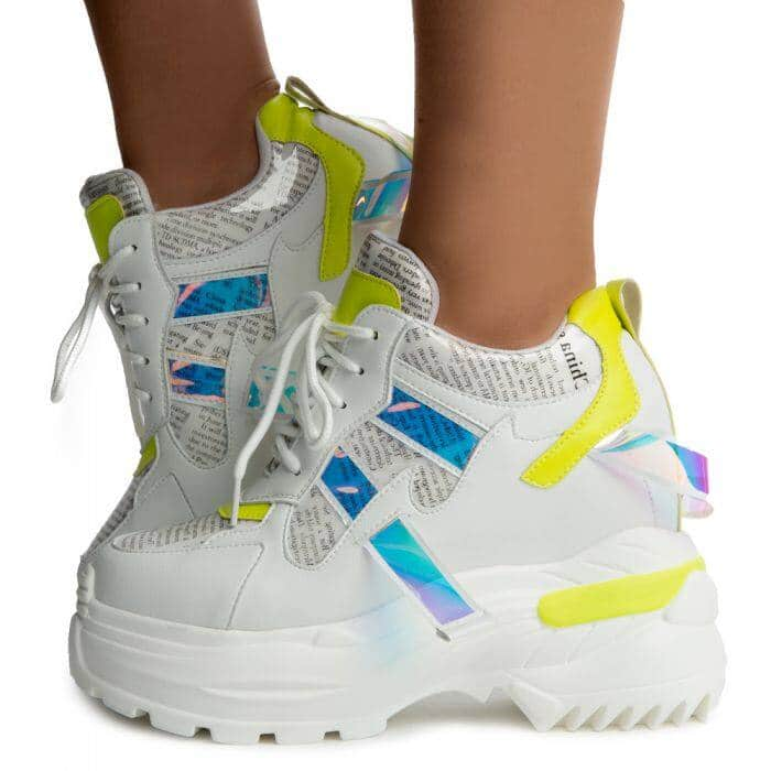 Oval-02 Platform Sneakers Yellow - $69.99 + Free Shipping