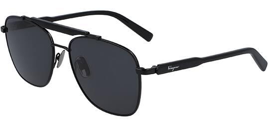 Salvatore Ferragamo Sunglasses: Brow-Bar Navigator $58, Polarized Squared Aviator $60 + Free Shipping