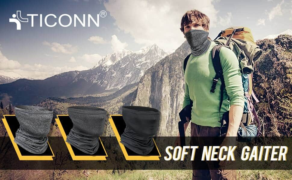 TICONN Neck Gaiters, Face Cover Scarf (2 Pack) $7.77 + Free Shipping w/ Prime or Orders $25+