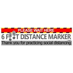 "(5-Pack) 12""X3"" Social Distancing Floor Decals $5.99 + Free Shipping w/ Prime or Orders $25+"