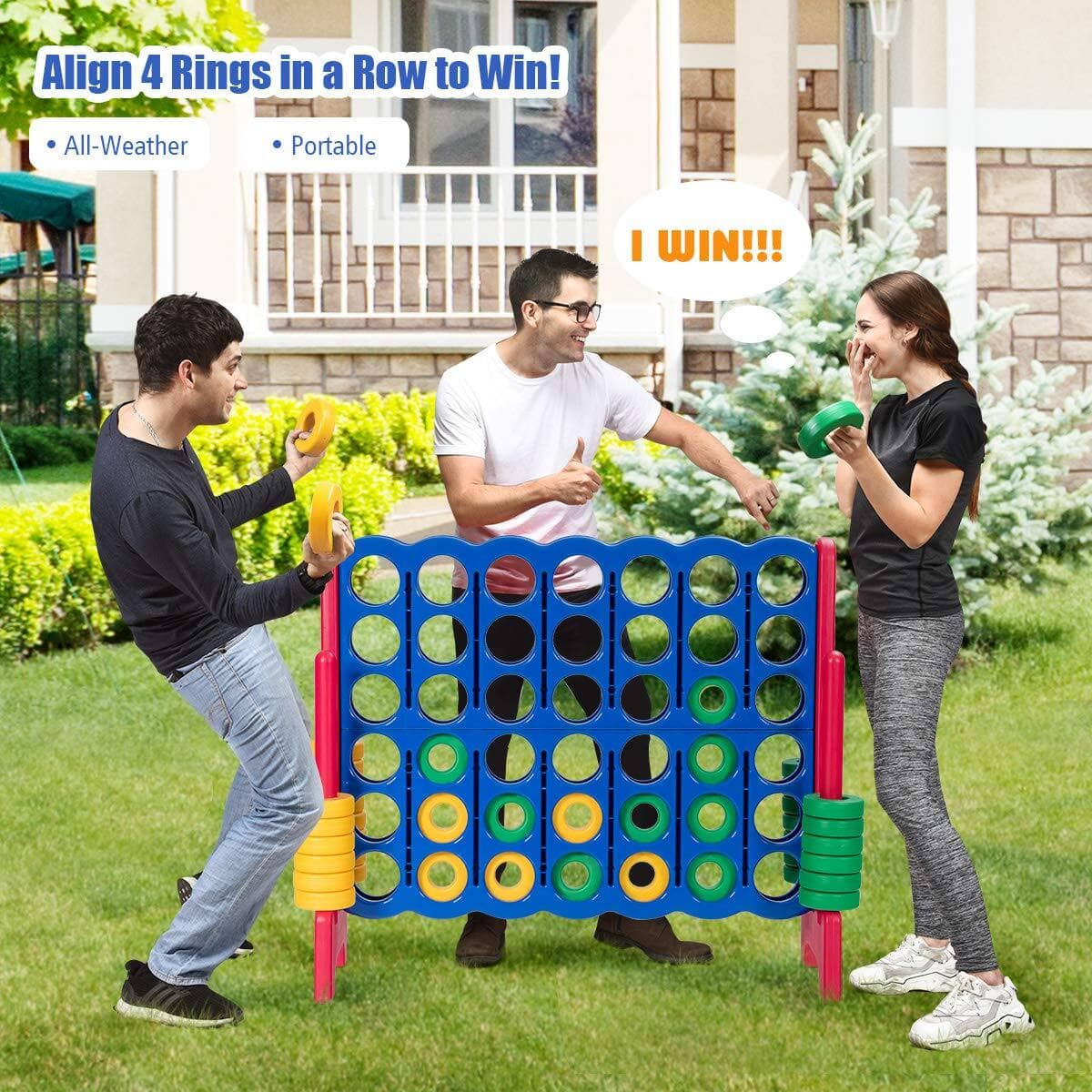 Giant 4-in-A-Row Game - $126.99 + Free Shipping