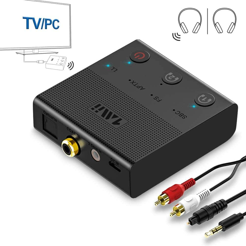 1Mii Bluetooth 5.0 Dual Link AptX Low Latency & HD Transmitter Adapter w/ Coax, Optical, RCA, AUX, USB $16.49 + FS w/ Prime or Orders $25+