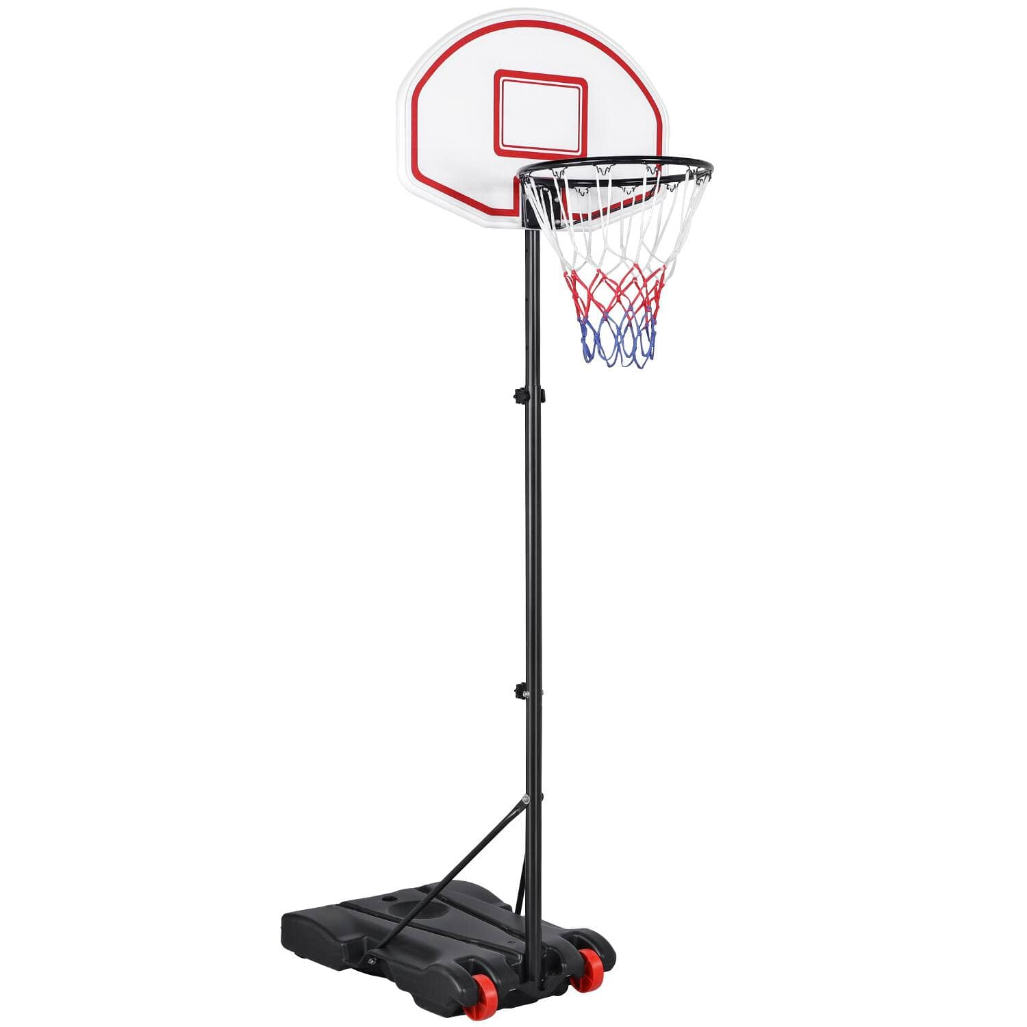 Yaheetech Portable Height Adjustable 5.2-7 ft Kids Basketball Hoop Stand with Wheels $51.59 + Free Shipping