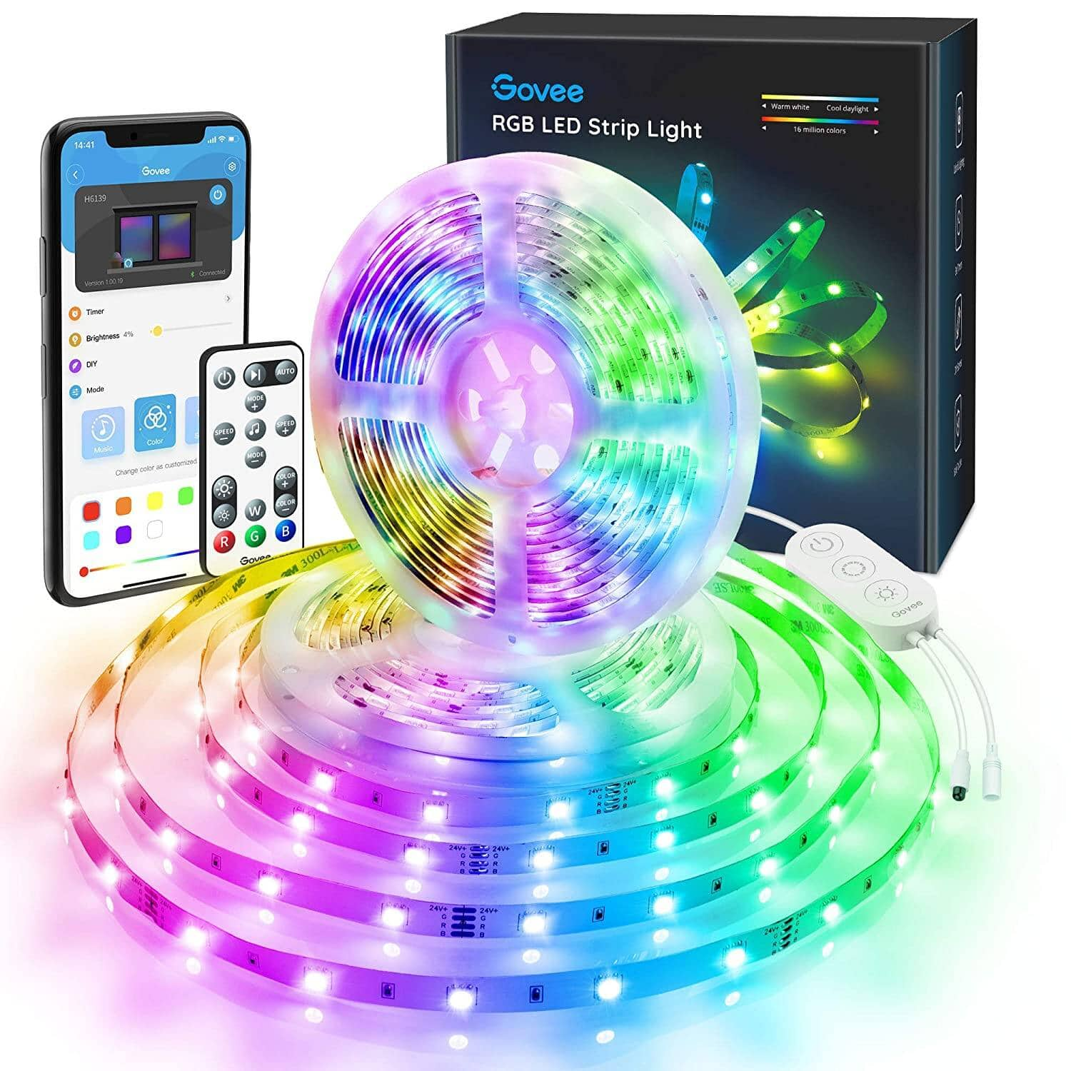 Govee Color Changing 32.8ft LED Strip Lights w App Control and IR Remote - $22.99 + Free Shipping