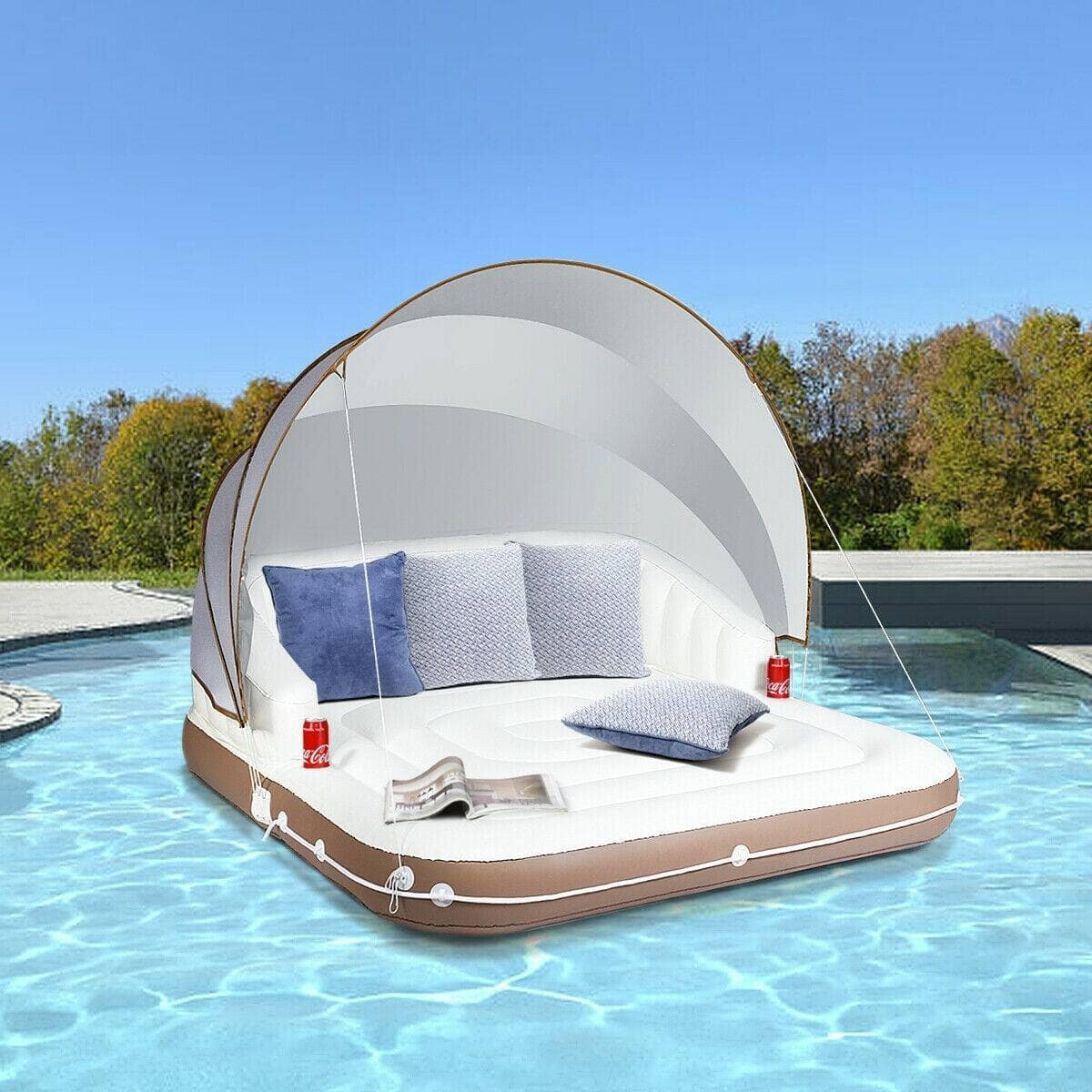 Inflatable Pool Float Lounge Swimming Raft $144.95 + Free Shipping