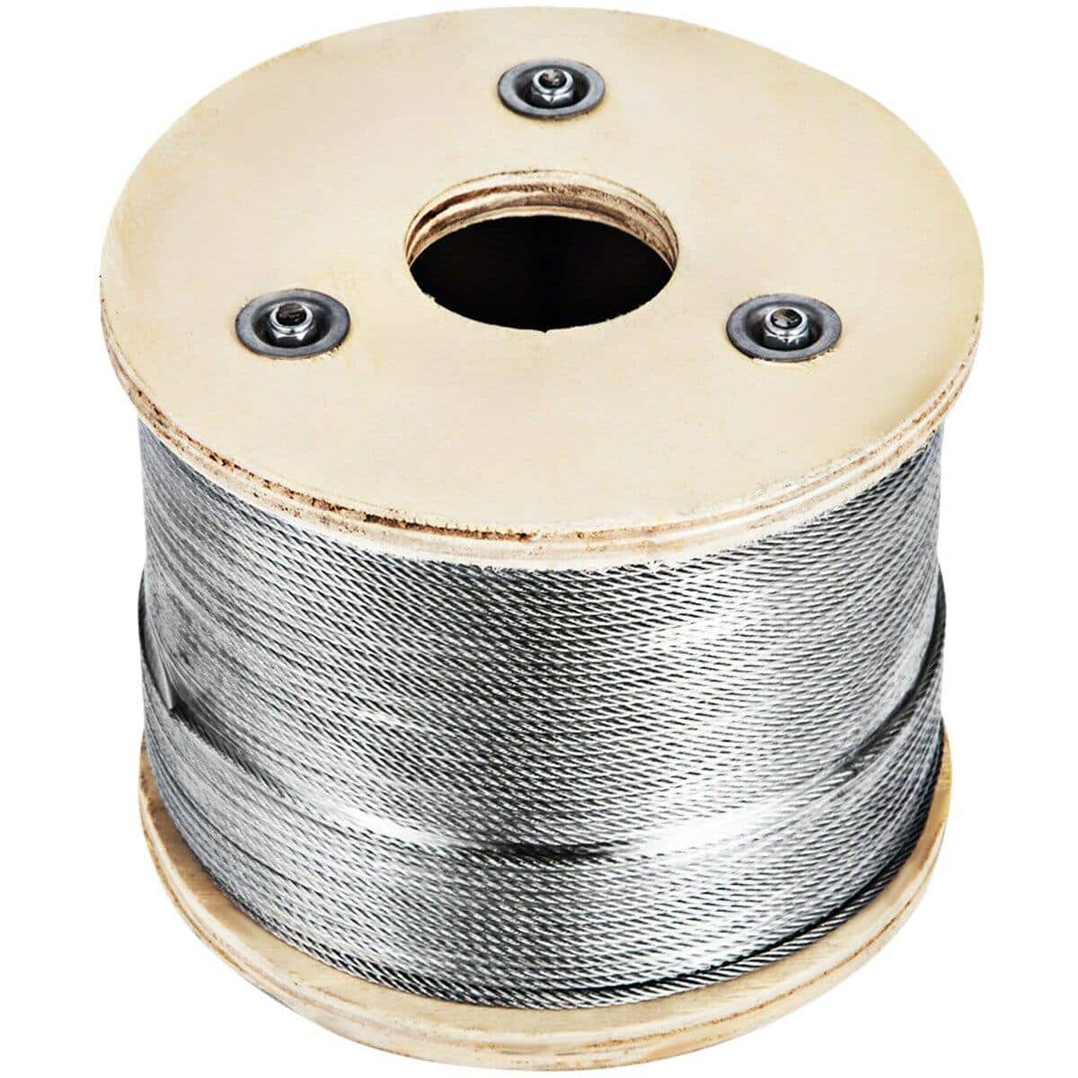 "VEVOR Cable Railing Type 316 Stainless Steel Wire Rope Cable, 1/8"",7x7, 500 Ft Reel $56.90 + Free Shipping"