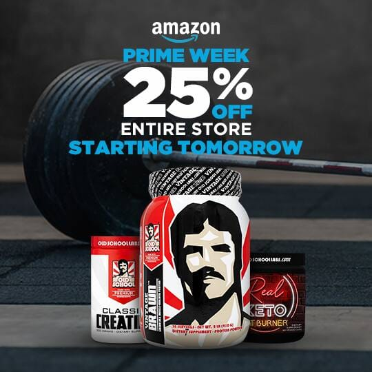 Save 25% off all Old School Labs supplements $12.74