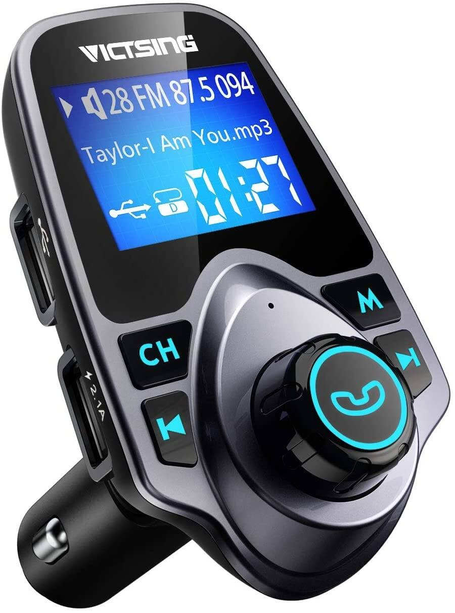VicTsing Bluetooth FM Transmitter for Car $9.34 + FS w/ Prime or Orders $25+
