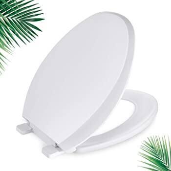 Round Toilet Seat, Dalmo DBTS02S Toilet Seat with Soft Close & Non-Slip Seat Bumpers $22.07 + Free Shipping