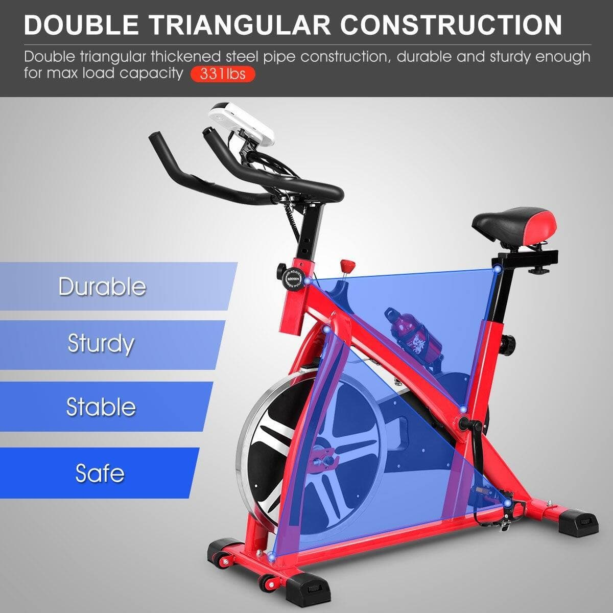 Costway Adjustable Exercise Bicycle Cycling Cardio Fitness + $154.95 + Free Shipping