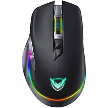 PICTEK Rechargeable Wireless RGB Gaming Mouse [10000DPI] - $23.99
