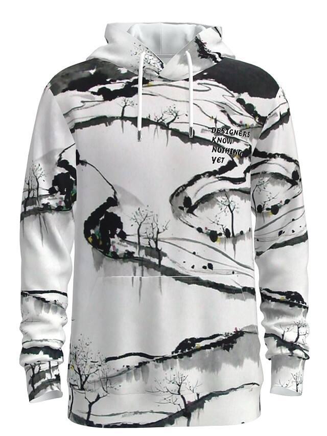 Men's Women's Pullover Hoodie Gaphic Tribal Print Long Sleeve Sweatshirts (Various Patterns) $14.84 + Free Shipping