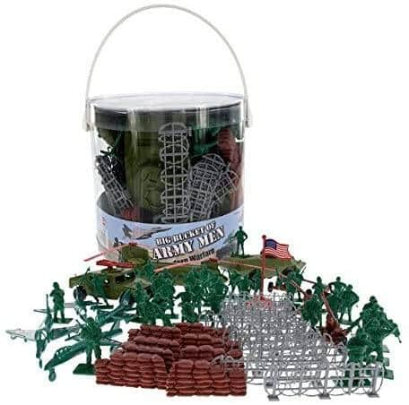 65+ Pieces Big Bucket of Army Men Figures  - $14.96 + Free Shipping w/ Prime or Orders $25+