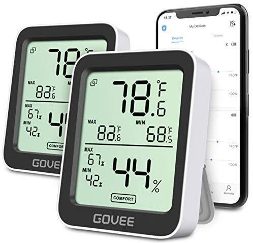 Govee 2-Pack Smart Temperature Humidity Monitors w/ Swiss-made Sensor and App Tracking - $15.99 + FS w/ Prime or Orders $25+