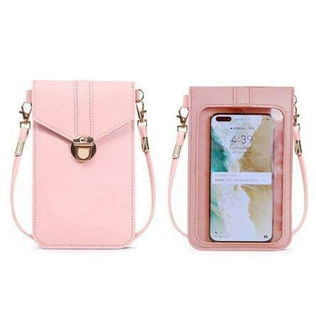 Women's Stylish Crossbody Bag Transparent Mobile Phone Bag (8 Colors) $8.99 + Free Shipping