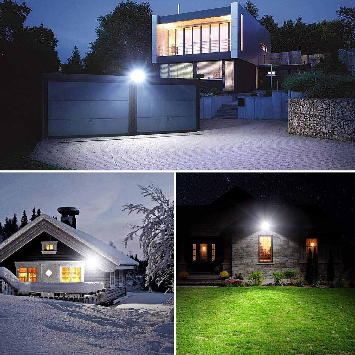 Onforu 2 pack 50W LED Flood Light for $24.49, 2 Pack 100W LED Flood Light for $41.99, IP66 Waterproof Daylight White Outdoor Security Lights + Free Shipping