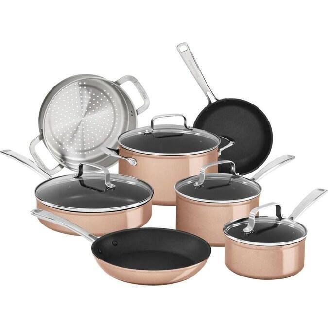 KitchenAid 11-Pc. Hard Anodized Aluminum Nonstick Cookware Set - $139.99 + Free Shipping