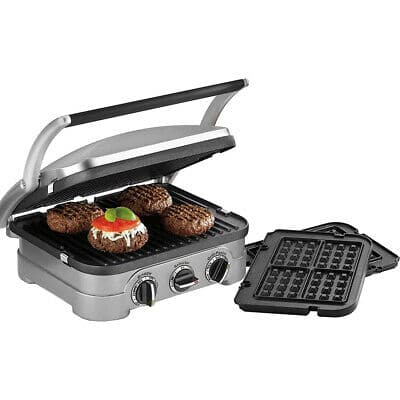 Cuisinart GR-4NW Multifunctional Griddler w/ Waffle Plates, Grill & Panini Press, Certified Refurbished (2-Year Warranty) $49.99 + Free Shipping