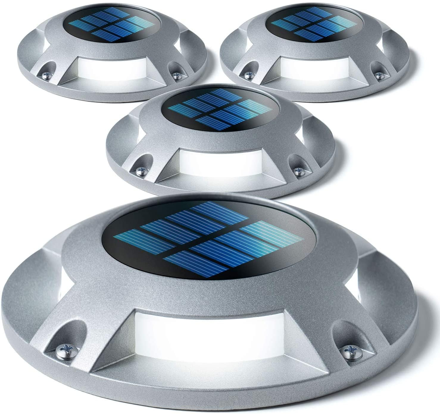 4 Pack Outdoor Solar Deck Lights Silver or Black - $16.49 + Free Shipping