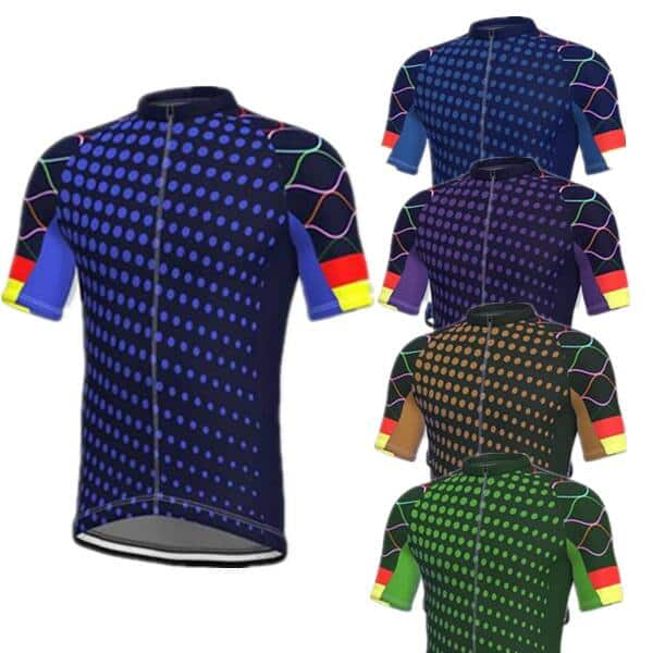 Men's Cycling Jersey Geo Pattern Athleisure Bike Outdoor Sports Tops  (7 Colors) $9.96 + Free Shipping