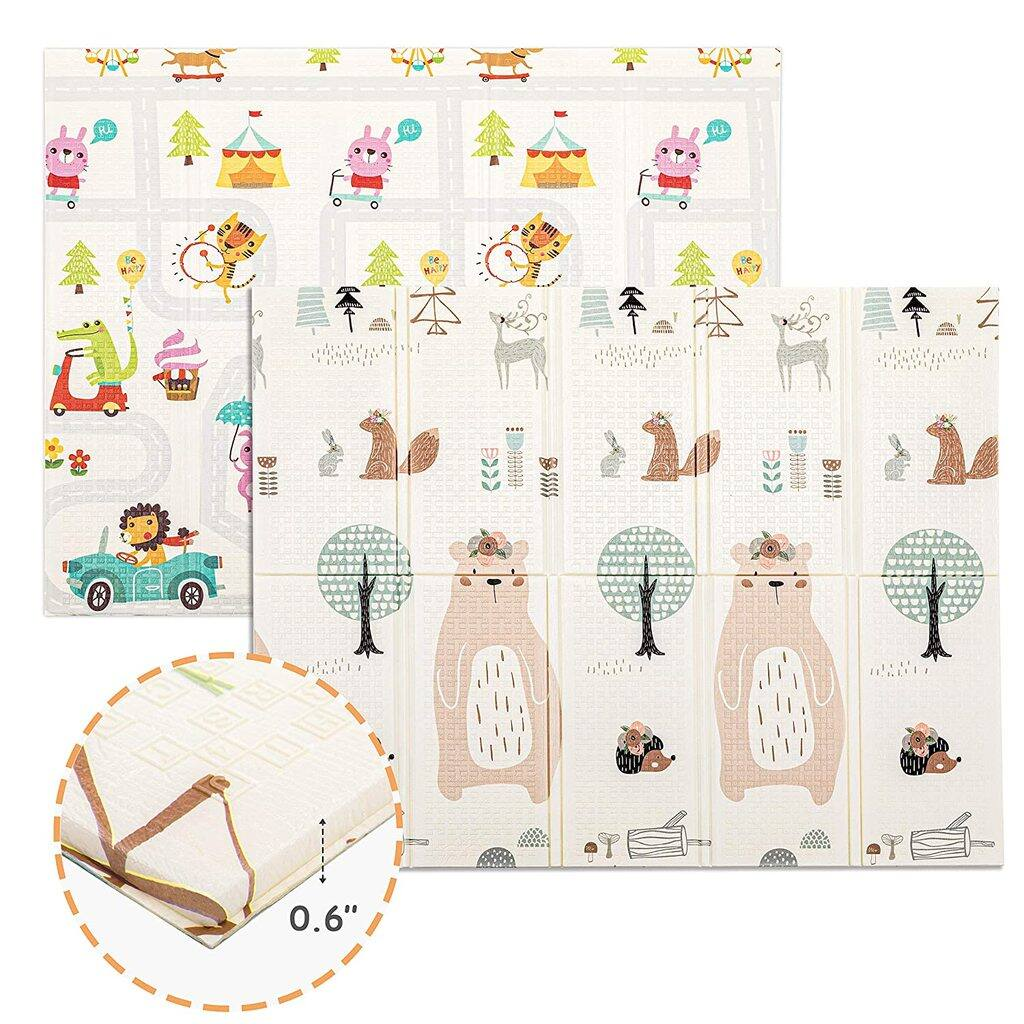 Foldable Baby Play Mat (0.6'' Thick | 77'' x 70'' Extra Large Crawl Mat) $46.66 + Free Shipping