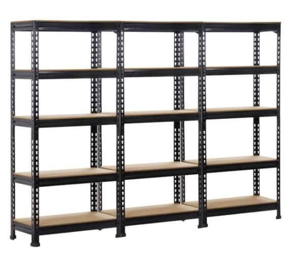 3-Pack 5-Tier Adjustable Metal Garage Storage Rack, 27.6''L x 12.0'' W x 59.1''H - $149.74 + Free Shipping