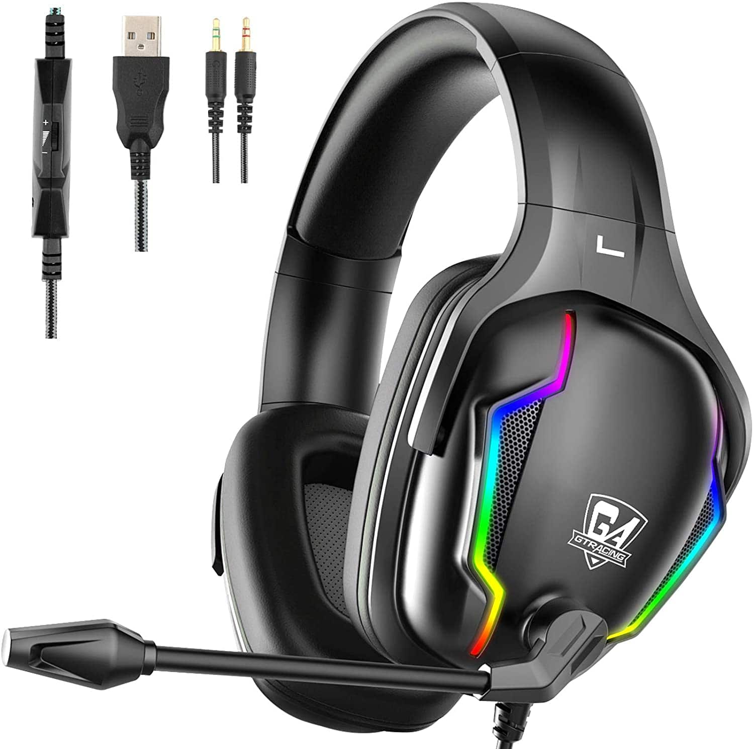 GTRACING Gaming Headset for PC - Computer Headphones with Surround Sound Stereo Noise Canceling Mic for $24.99 + Free Shipping