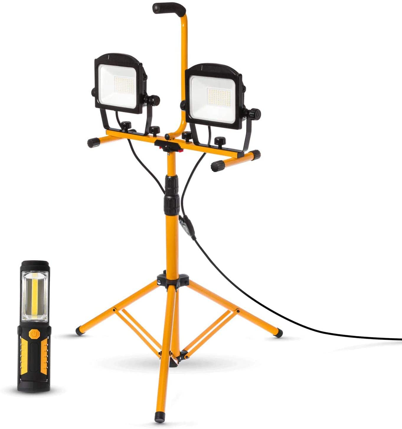 Home Zone Security 10,000 Lumen Dual Head LED Work Light with Tripod Stand - $77.99 + Free Shipping