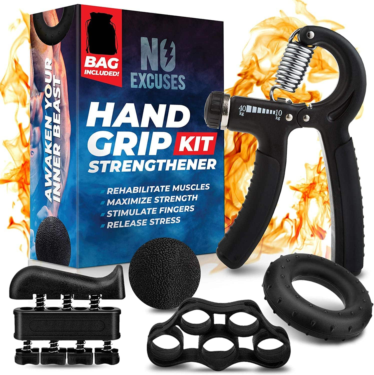Hand Grip Strength Trainer Kit - $12 + Free Shipping on Prime or Orders $25+