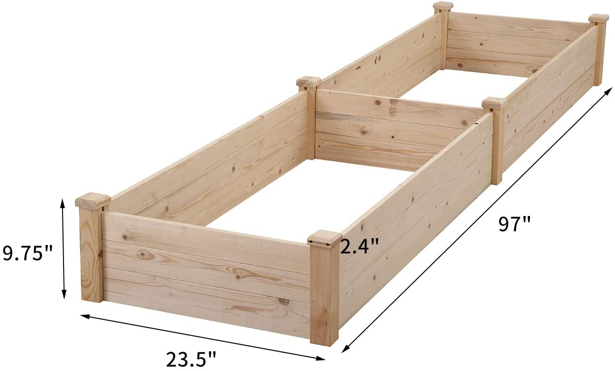 8' X 2' Raised Wooden Garden Bed for $55.99 + Free Shipping