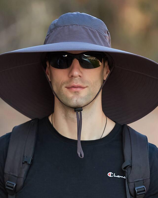Men's Super Wide Brim Sun Hat-UPF50+ Waterproof Bucket Hat for Outdoor Sun $8.74 (6 Colors) + Free Shipping