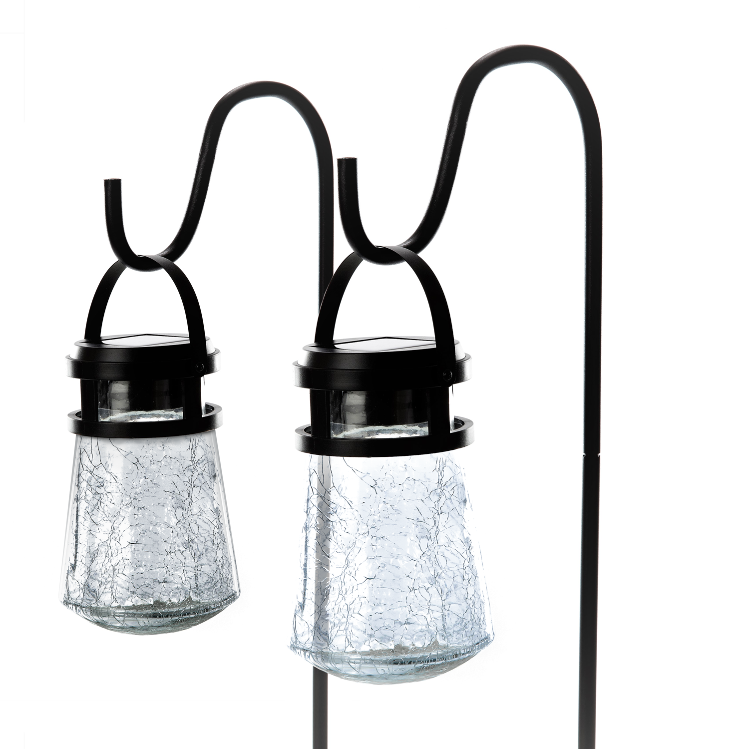 Home Goods Squad via Amazon: 2 Pack Outdoor Solar Crackle Glass Pathway Lights - $20.99 + Free Shipping