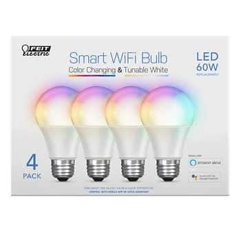 Feit Electric Wi-Fi Smart Bulbs, Color Changing 4-pack $19.99