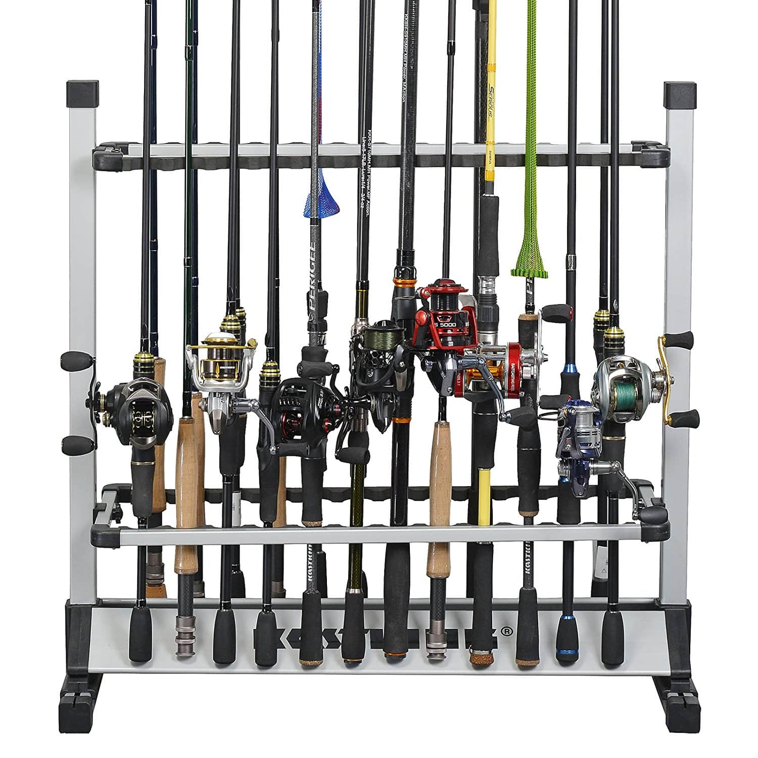 $41.98 24 Rod Rack for All Types of Fishing Rods and Combos/12 Rod Rack for Freshwater