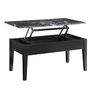 Dorel Living Faux Marble Lift Top Storage Coffee Table $69 + Free Shipping