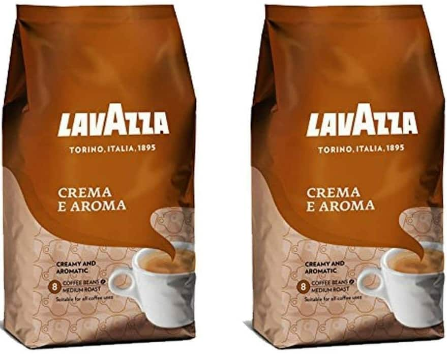 Lavazza Crema e Aroma Whole Bean Coffee Blend, Medium Roast, 2.2-Pound Bag (Pack of 2) $24.99 + FREE S/H