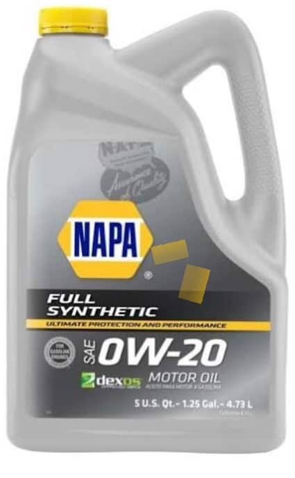 NAPA Motor Oil 0W20 Full Synthetic 5 qt $15.49 + (other oils on sale)