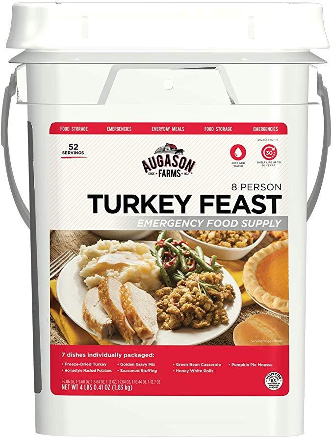 $67 Augason Farms Turkey Feast 8 Person Emergency Food Supply