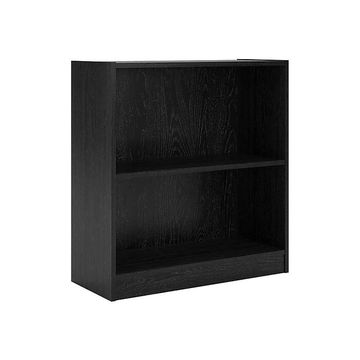"""Ameriwood Hayden Bookcases: 2-Shelf 30""""H Bookcase (Cherry or Midnight Onyx) $23, 3-Shelf 48""""H Bookcase (Cherry) $33 + 2% Slickdeals Cashback (PC Req'd) + Free Shipping"""