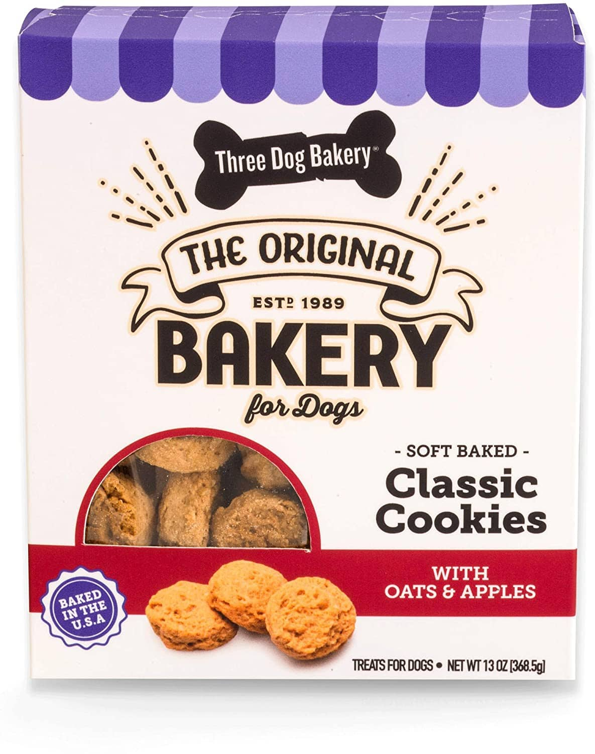 13-Oz Three Dog Bakery Apples & Oats Soft-Baked Dog Treats $3.20 + Free Shipping w/ Amazon Prime or Orders $25+