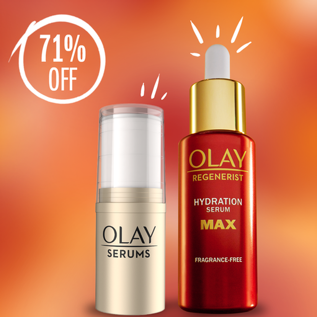 Olay Bright In Time for Brunch Set: Refreshing Pressed Serum Stick & Regenerist MAX Hydration Serum $18 + 10% Slickdeals Cashback (PC Req'd) + Free Shipping