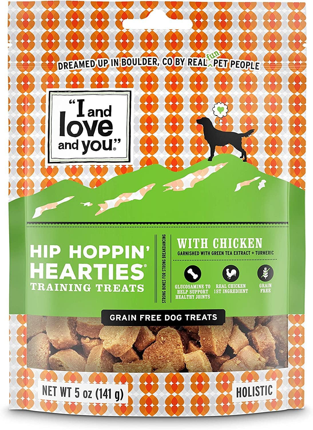 """5-Oz """"I and love and you"""" Hearties Hip & Brain Support Dog Treats $3.40 w/ S&S & More + Free Shipping w/ Amazon Prime or Orders $25+"""