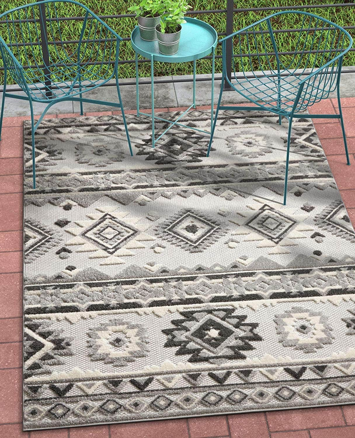 """5'3"""" x 7'3"""" Well Woven Indoor/Outdoor Area Rug $34 + Free Shipping"""