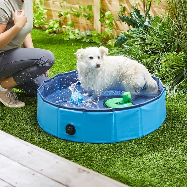 Frisco Dog Pools: Blue Outdoor Swimming Pool: Small $13.20, Large $22.05, XX-Large $27.25 & More + F/S $49+